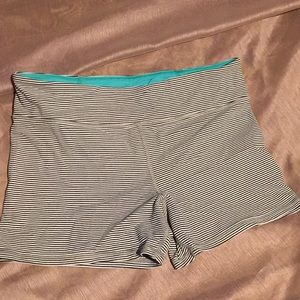Striped tight workout shorts
